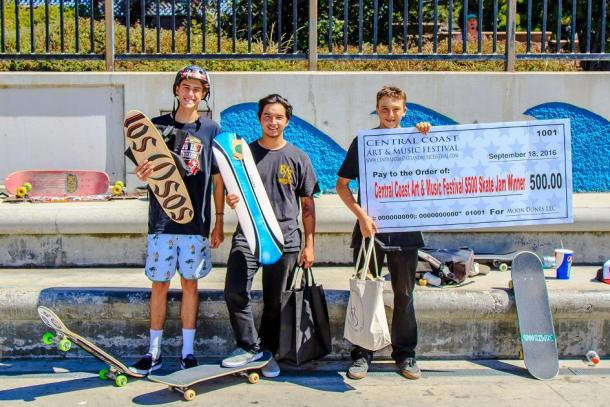 Runner Ups in the $500 Skate Jam Christian Thompson, Kaleb Black, winner Matthew Wilcox