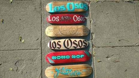 "Hand Pained ""Los Osos"" Skateboard Deck Skate Jam Trophies"