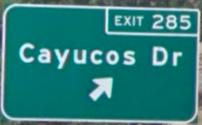 Cayucos Dr Sign