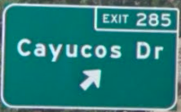 Cayucos Dr Sign